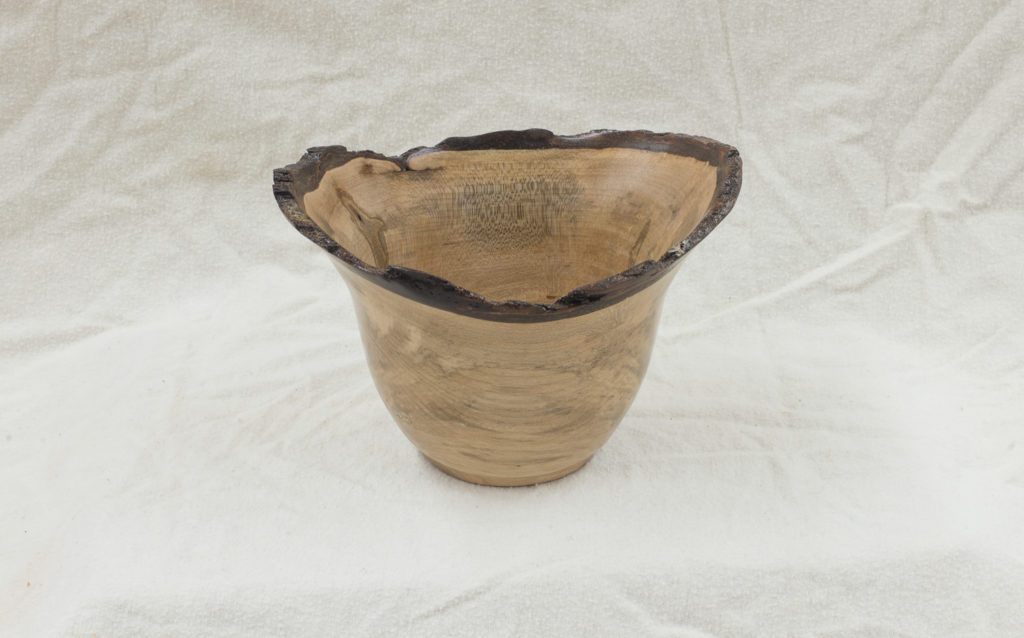 """Maple Natural Edge Bowl, 7""""wide x 6""""deep x 5"""" high"""