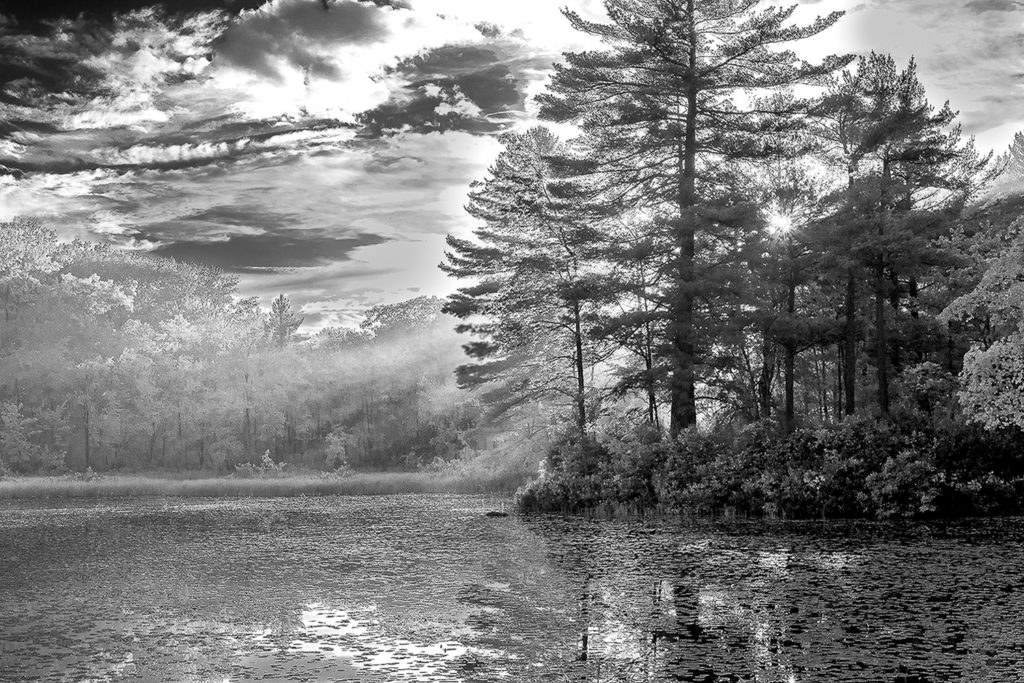Sunset, Warwick, Mass, infrared