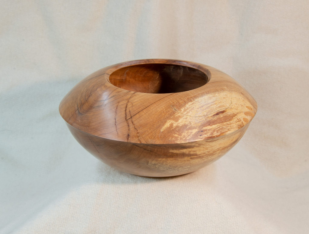 Maple hollow-form bowl, hand-made, $125